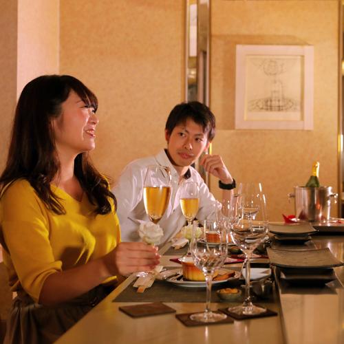 【記念日ディナー】特別な日をより輝かす、鉄板焼きディナー&シャンパン≪特製デザートプレート付≫