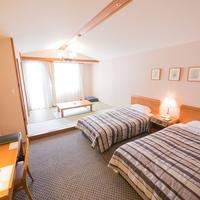 【禁煙】和洋室〜ツインベッドと和室6畳間でゆったり〜