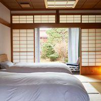 【和室ベッドルーム】源泉内風呂付き 禁煙