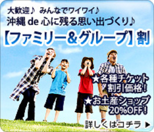 【ファミリー&グループ】大歓迎♪みんなでワイワイ♪沖縄 de 心に残る思い出づくり♪