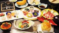 【春夏旅セール】オンライン決済限定《岩内満喫》刺身・煮鮑・踊り焼き…3種の鮑料理♪たっぷり海鮮和食膳