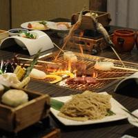 【特選】×【囲炉裏料理】≪2食付≫お肉や南信州の郷土食材を炭火の囲炉裏で愉しむ