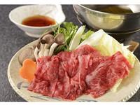 ■【別注料理「信州牛のしゃぶしゃぶ」付】1泊2食バイキング(アルコール90分飲み放題)