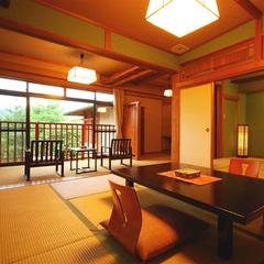 露天風呂付き客室「万楽」2階 「相生」「蓬莱」