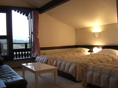 テラス付きトリプルベッドルーム(八ヶ岳が正面に見えるお部屋)