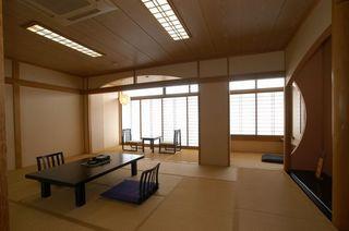 平戸城が見える和室