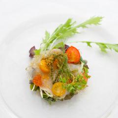 【さき楽60/2食付】沖縄食材をフレンチの技法で彩る 地産地消ディナー『浜比嘉キュイジーヌ』