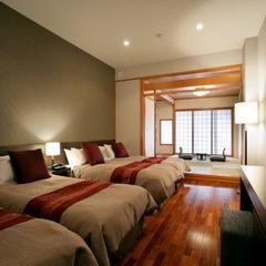 【禁煙】和洋室41平米(4ベッド+6帖)山側/展望浴場は無料
