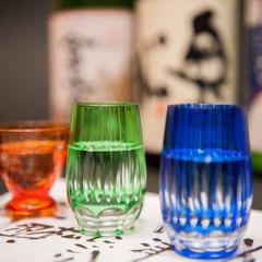 【お酒を愉しむプラン】福島のお酒を飲み比べ3種のきき酒プラン。日本酒が好きな皆様に大好評です