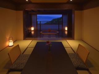 【14日前★早割即決】海一望の露天風呂付客室★お部屋食プラン