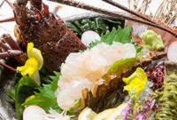 伊勢海老のお刺身とアワビステーキグルメプラン