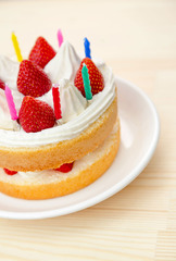 【記念日に♪】お誕生日や記念日をペンションでお祝い♪和牛ステーキ+手づくりケーキ(ローズ)現金特価