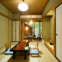 1階【露天風呂+内湯付き】和室(10畳)広縁 箱庭付