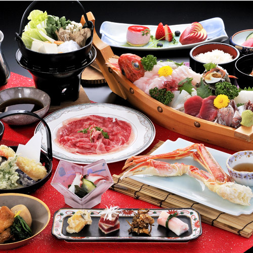 【平日限定・平日】季節にぴったりな『和牛鍋』と『新鮮魚介舟盛り』で満腹満足♪