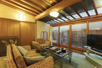 《1泊2食付・離れ蓮魚庵》落ち着きのある純日本家屋の佇まい ご家族でもお過ごし頂ける特別室