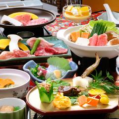 【貸切風呂50分付】午前11時までのレイトチェックアウトOK!≪豚牛鶏3種のお肉≫夕食部屋だしプラン
