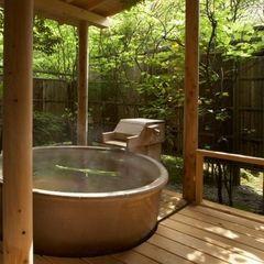 【禁煙】露付風呂付き客室「横笛」:和室12.5帖+和座ベッド