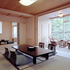 和室12畳+6畳+天然温泉露天付客室