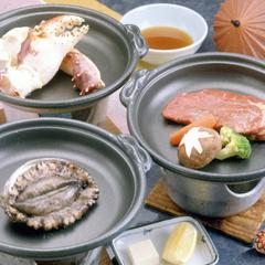 【一人旅の方必見!】 【あわび・たらばがに・和牛ステーキ】から選べるお好みの1品!美味旬彩プラン