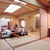 和室10畳+次の間10畳+ソファー+バストイレ付客室