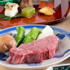 本館【国産和牛の旨味を楽しむ!】特撰和牛懐石 〜国産和牛をしゃぶしゃぶと厚切りステーキで〜
