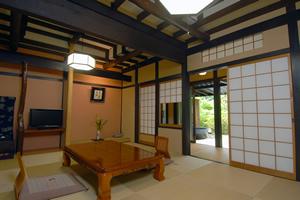 和室10畳露天風呂付6/6〜9/21の期間ご夕食は川床
