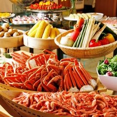 【早得30/最大20%引き|バイキング2食付】「ズワイ蟹食べ放題」の和洋中50品バイキングプラン