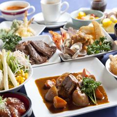 エグゼクティブフロア★バイキング食★夕食和洋中70品と朝食和食・洋食バイキング