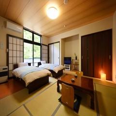 【新館】和室(14畳)ツインベッドルーム※トイレ付・フロ無