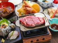モー満腹プラン(淡路牛へレステーキ使用)