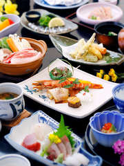 鹿児島の郷土会席と創作和食プラン 【個室食】で松コース