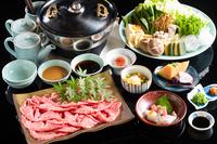 牛霜降しゃぶしゃぶ★味の決め手は2種類の特製タレ★の贅沢な夕食と老舗手作り豆腐付き朝食プラン♪