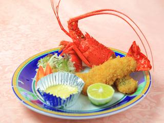 【館内すべてペットと一緒】プリプリ伊勢海老のフライと厚切り金目鯛のしゃぶしゃぶで満腹プラン♪