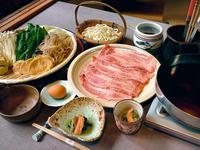【作州牛すきやき】津山が誇るブランド牛を関東風で<夕朝2食付き・すきやきプラン>