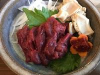 【冬春旅セール】【ふくしまプライド。】【馬刺しor桜肉付】会津の郷土料理&4種類の地酒呑み比べ