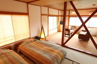 貸切露天無料・2間続の広い空間・海と夜景と一望・全室禁煙