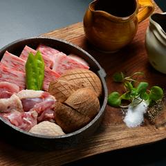 【 三大味覚饗宴プラン 】地元大分が誇るブランド豊後牛・冠地鶏・名産の肉厚椎茸を贅沢に