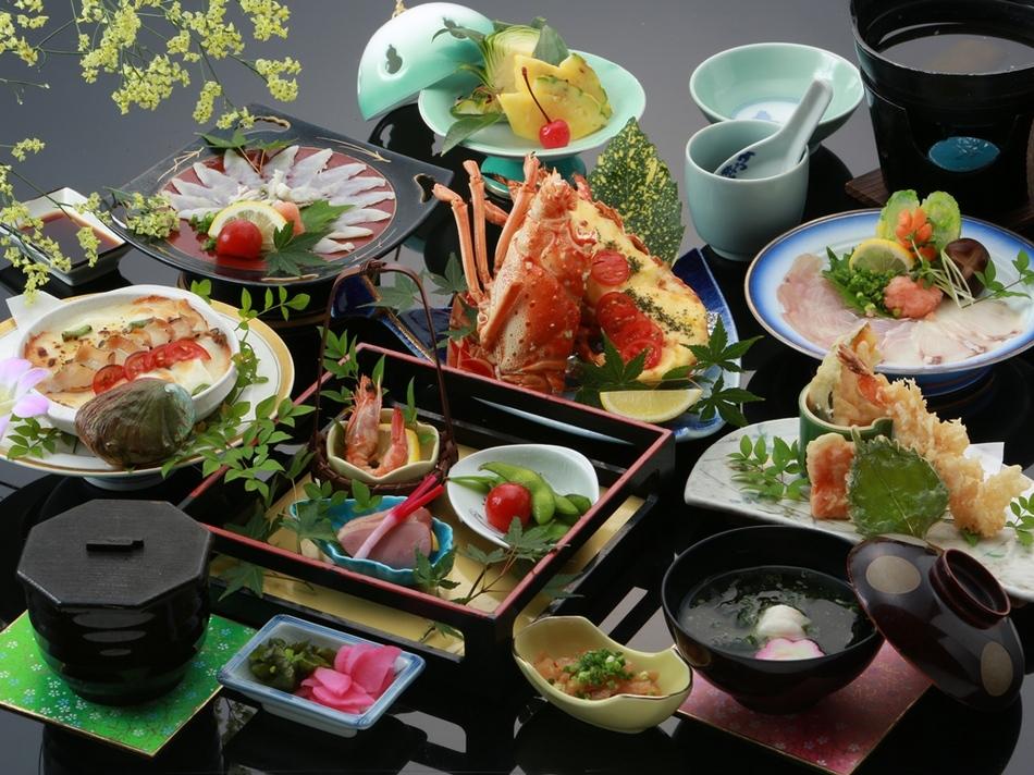 【4名だと!得・得】ふぐ・あわび・たい・えび♪四大グルメ味覚会席!