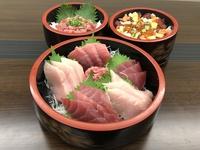 【アッパレしず旅】【焼津食べつくし①】マグロづくし刺身と南マグロのネギトロ丼とばらちらし付きプラン