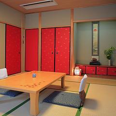別館8畳+広縁2畳/二階(ユニットバス、大浴場あり・禁煙)