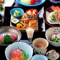 【夕食のみ】【早割り】庭園レストランリニューアル≪庭園を眺めながら『鱧・鮎・京野菜』夏の京料理プラン