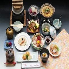 【お部屋食】*量より質!のお客様におすすめ★のんびりお部屋食で!★旬の味覚を味わう♪美食会席プラン♪