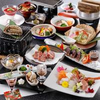 【贅沢橘風夢御膳】 贅沢食材が夢の饗宴!◆国産あわびと黒毛和牛ステーキ、極みの料理で至福のひと時◆