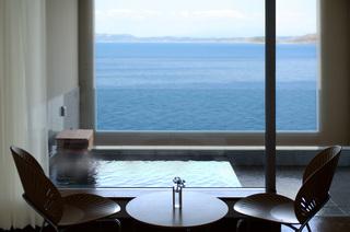 事前カード【12時までレイトチェックアウト】海の見える温泉かけ流し露天付客室プラン