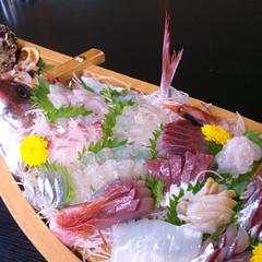 白えびのお刺身付き/富山湾の旬の美味しいお刺身舟盛プラン 【3〜11月】
