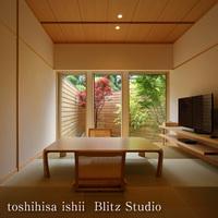 別邸【折橋の間】温泉付和洋室 1F和室/2Fリビング+寝室