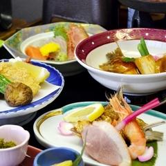 【楽天スーパーDEAL】ポイント30%【ちょっと贅沢に…♪】島根の新鮮な山の幸×海の幸がたっぷり