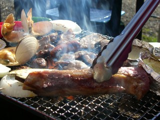 【人気NO.1】プレミアム炭火焼BBQプラン♪(ラクレットチーズ、スモーク付)♪星空の下で!