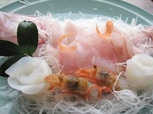高級魚ノドクロと旬の魚介を満喫する
