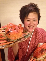 【アツアツ活ボイル越前蟹(500〜600g)お一人1パイづつ付き堪能コース】その他蟹刺し、焼蟹、蟹鍋